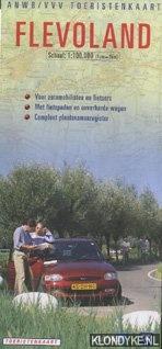 Diverse auterus - ANWB/VVV toeristenkaart Flevoland 1:100.000