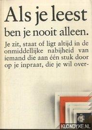 Diverse auteurs - Boekenweek 1975. Als je leest ben je nooit alleen