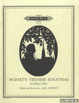 ROWLEY, ALEC - Mozart. Viennese sanatinas for piano solo