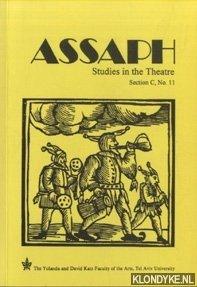 ROZIK, ELI - Assaph. Studies in Theatre. Section C, No. 11
