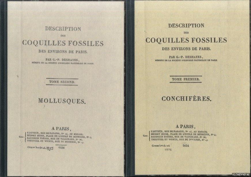 DESHAYES, G.-P. - Description des coquilles fossiles des environs de Paris (3 volumes) (Reprint)