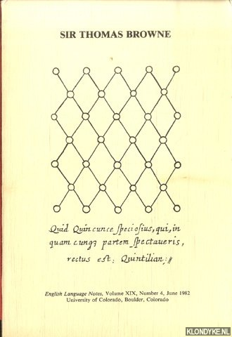 SCHOEK, R.J. (EDITOR) - Sir Thomas Browne and the Republic of Letters