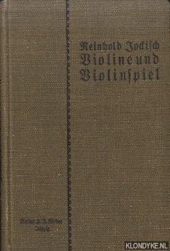 JOCKISCH, REINHOLD - Violine und Violinspiel