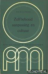 STALPERS, PROF.DR. J.A. - Zelgbehoud, aanpassing en cultuur: psychologische monografieën