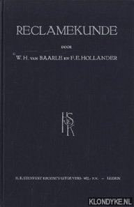 BAARLE, W.H. VAN & HOLLANDER, F.E. - Reclamekunde
