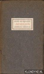 BRABANDER, GERARD DEN - Materie-man, een bundel verzen